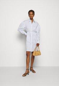 DESIGNERS REMIX - UMBRIA DRESS - Shirt dress - cream/blue - 1