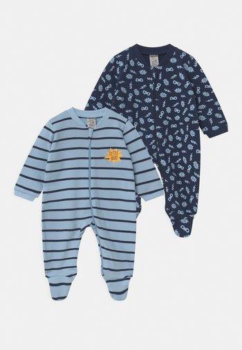 BOYS 2 PACK - Sleep suit - blue/dark blue