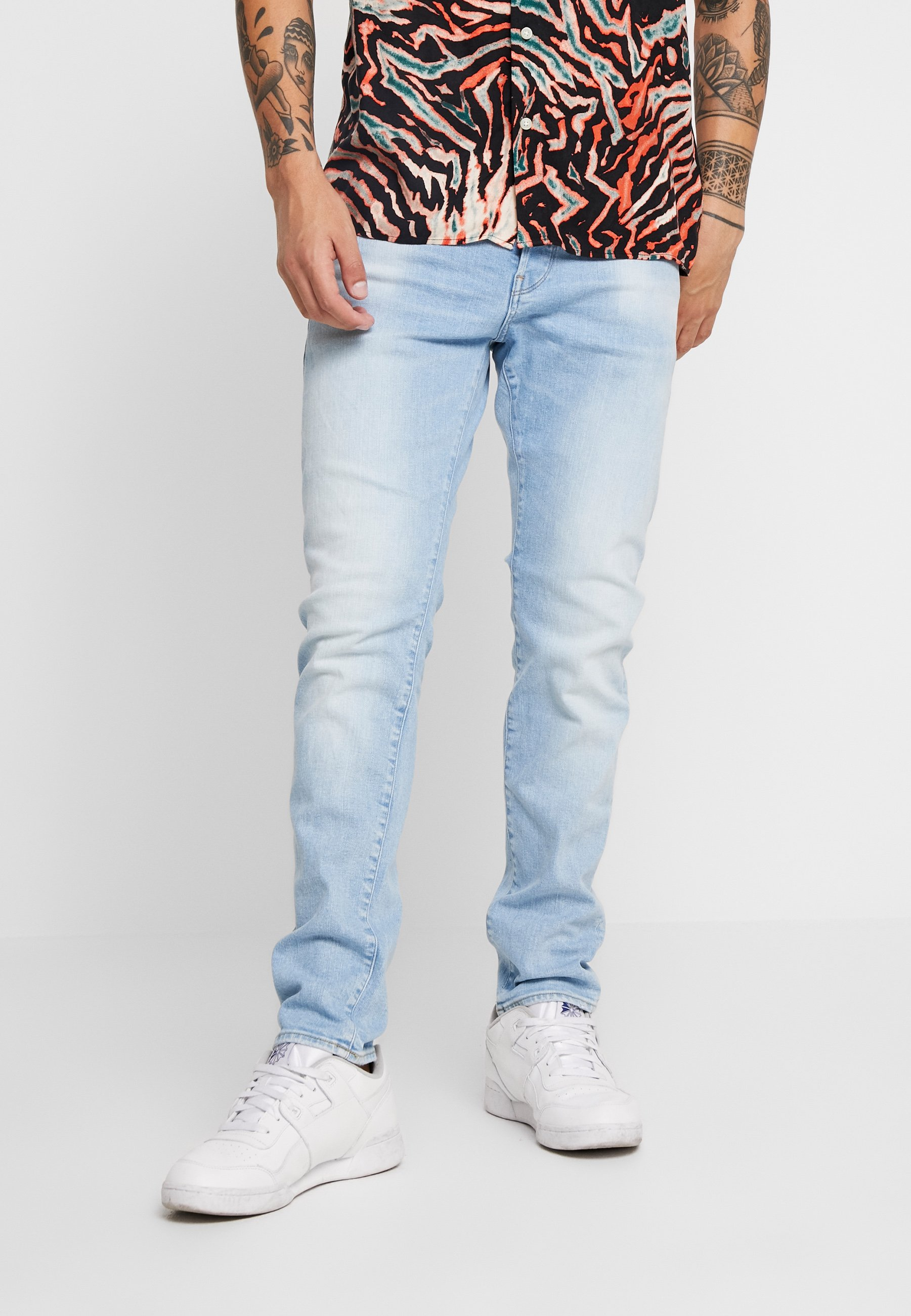 Men 3301 SLIM - Slim fit jeans - blue denim