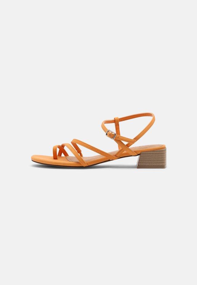 CARMIN - T-bar sandals - orange