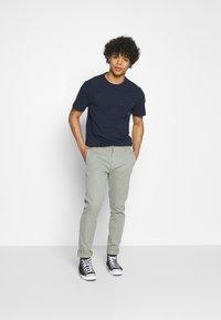 G-Star - CONTRAST MERCERIZED PKT R T S\S - T-shirt basic - sartho blue - 1