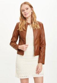 DeFacto - Faux leather jacket - brown - 2