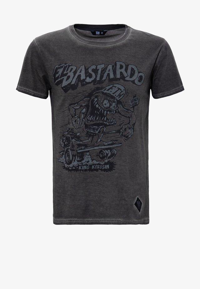 T-shirt imprimé - grau