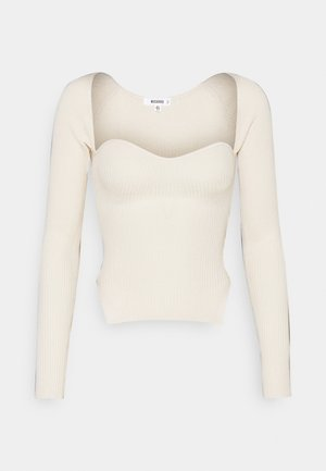 SWEETHEART LONG SLEEVE - Sweter - white