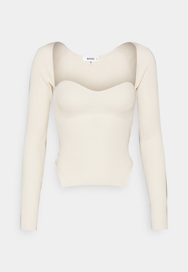 SWEETHEART LONG SLEEVE - Jumper - white