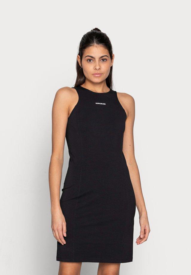 MICRO BRANDIN RACER BACK DRESS - Sukienka z dżerseju - black