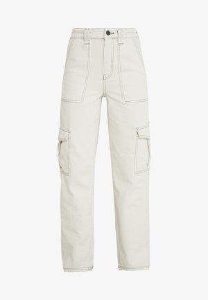 STITCH SKATE - Relaxed fit jeans - ecru
