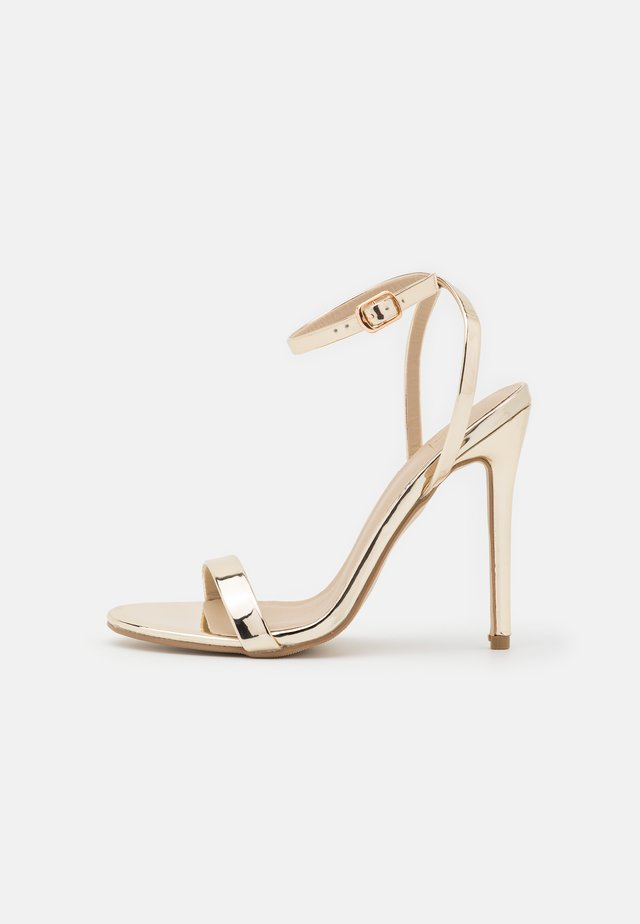 BASIC BARELY THERE - High heeled sandals - gold