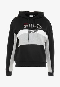 Fila - HOODY - Luvtröja - black/light grey melange/bright white - 4