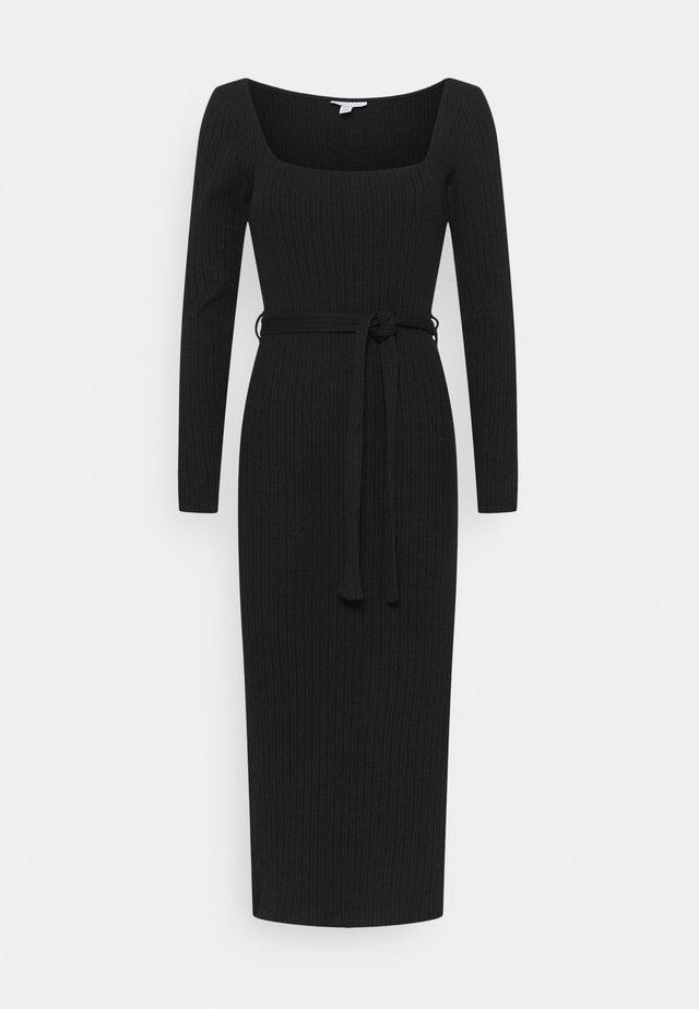 MIDI BELT  - Jumper dress - black