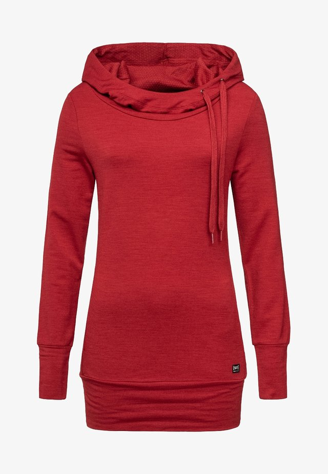 W ESSENTIAL TUNNEL - Hoodie - red