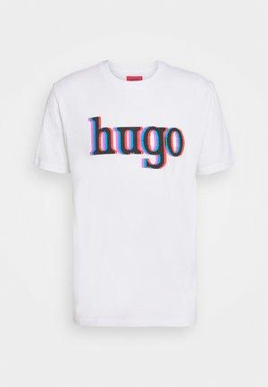 DONTROL - T-shirt z nadrukiem - white