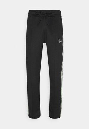 WIDE TRACKPANTS UNISEX - Teplákové kalhoty - black/mint