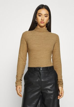 NMHILDE HIGH NECK - Jumper - tigers eye