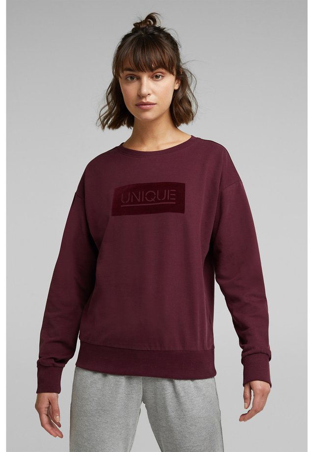 Sweatshirt - bordeaux red