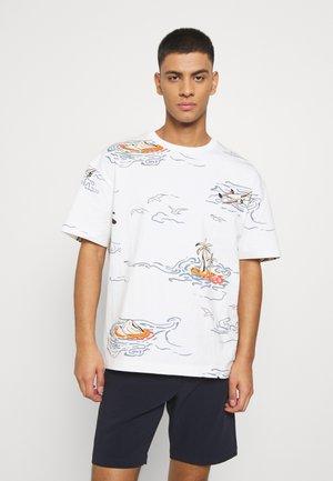 ALLOVER TEE - T-shirt imprimé - off-white