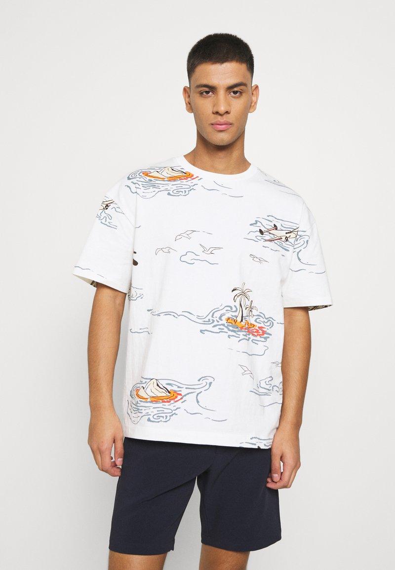 Scotch & Soda - ALLOVER TEE - T-shirt con stampa - off-white