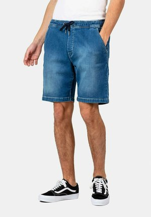 REFLEX EASY - Denim shorts - light blue