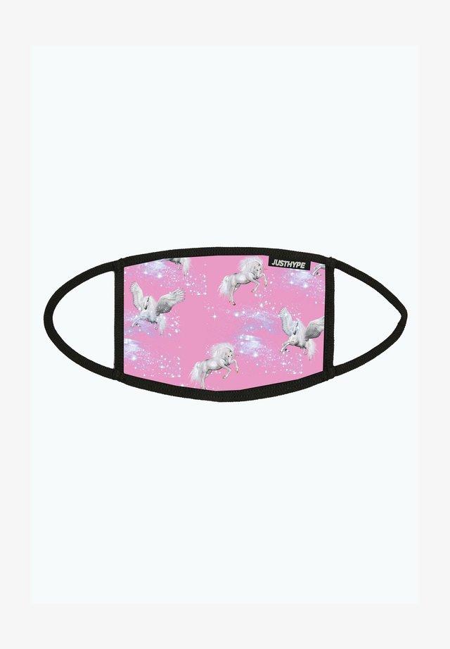 Masque en tissu - pink/white