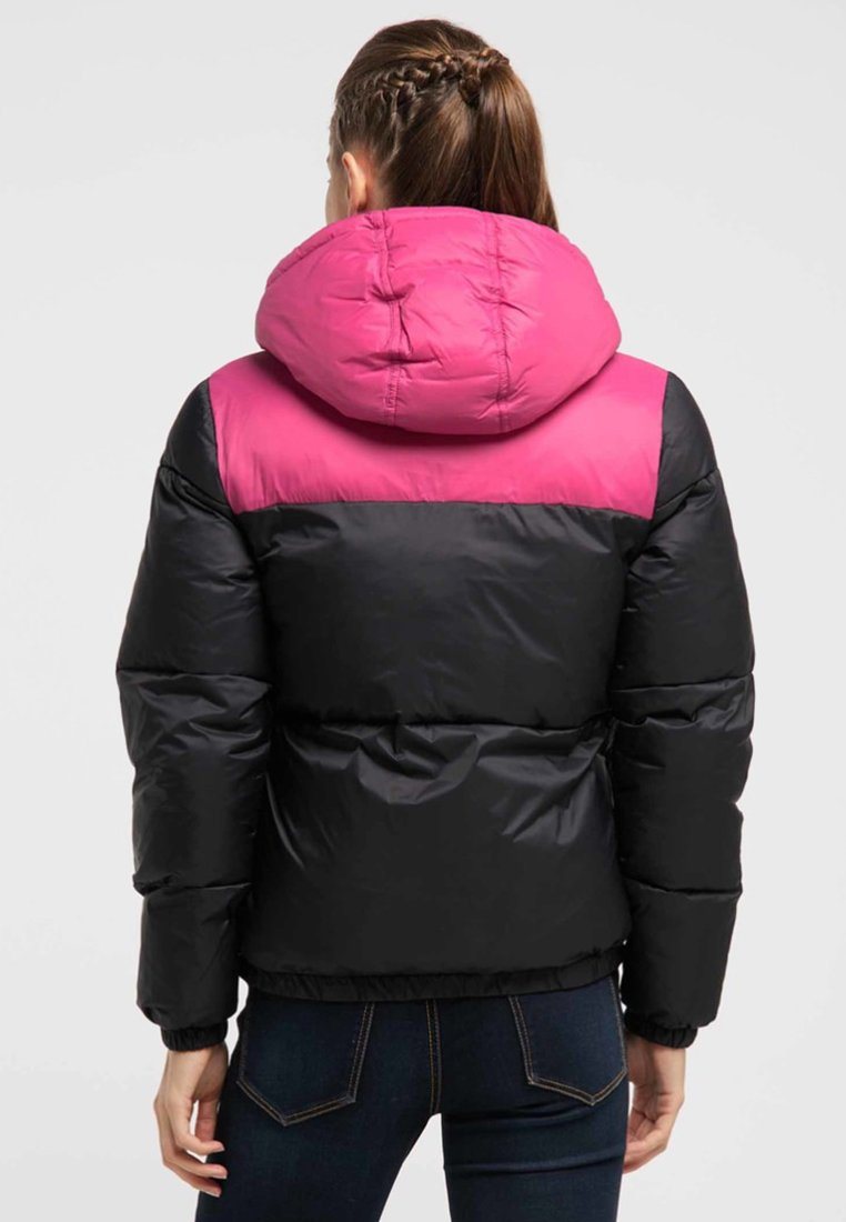 myMo Winterjacke pink/black/rosa