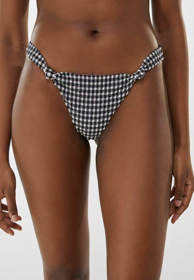 MIT VICHYKAROS  - Bikini bottoms - dark grey