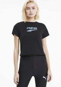 Puma - EVIDE GRAPHIC TEE - T-Shirt print - black - 0