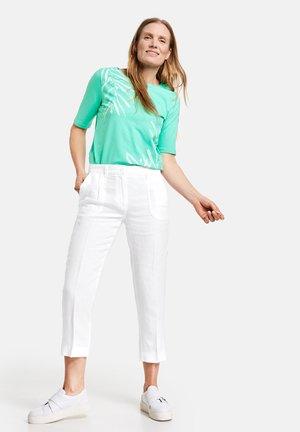 Pantalon classique - weiß/weiß
