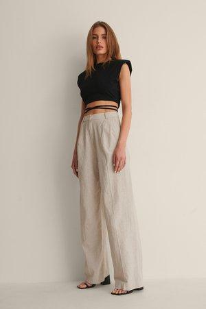SUIT PANTS - Trousers - beige