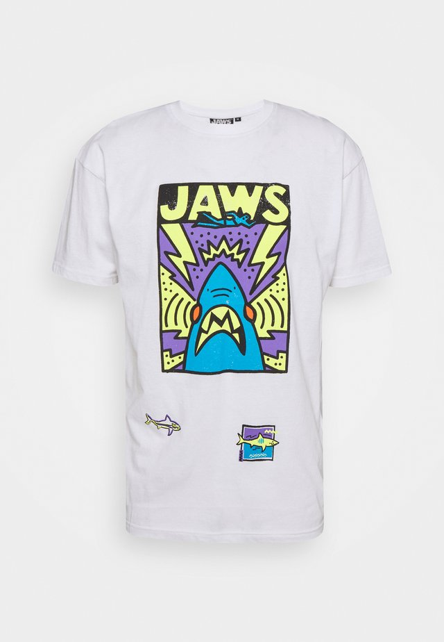 JAWS CARTOON TEE - Print T-shirt - white