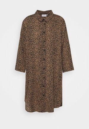 KALEGINA DRESS - Shirt dress - woodsmoke/black