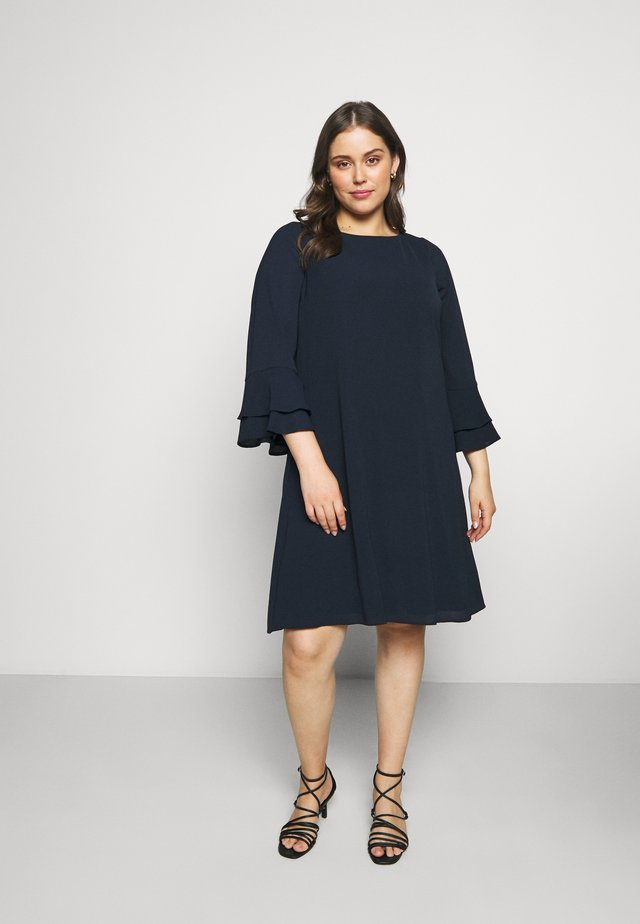 FRILL SLEEVE DRESS - Korte jurk - navy