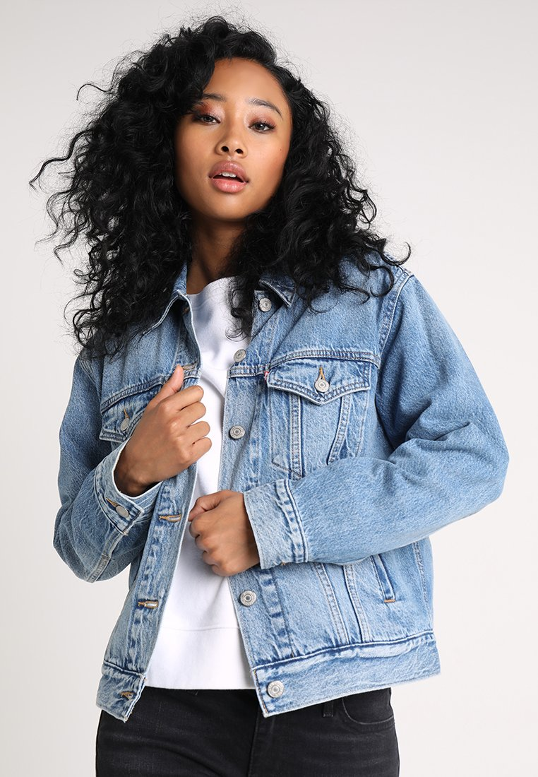 Levi's® - EX BOYFRIEND TRUCKER - Denim jacket - soft as butter mid