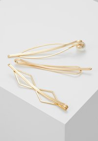 sweet deluxe - HAIR ACCESSORY 3 PACK - Hair styling accessory - gold-coloured/white - 2