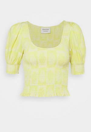 AMYLOU - Print T-shirt - canary yellow
