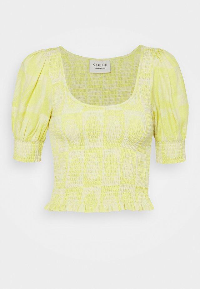 AMYLOU - T-shirt print - canary yellow