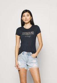 Armani Exchange - Print T-shirt - navy - 0