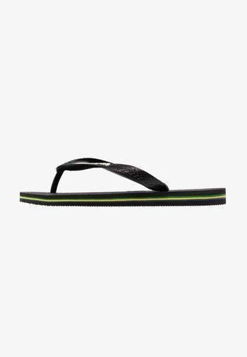 BRASIL LOGO - Pool shoes - black/black