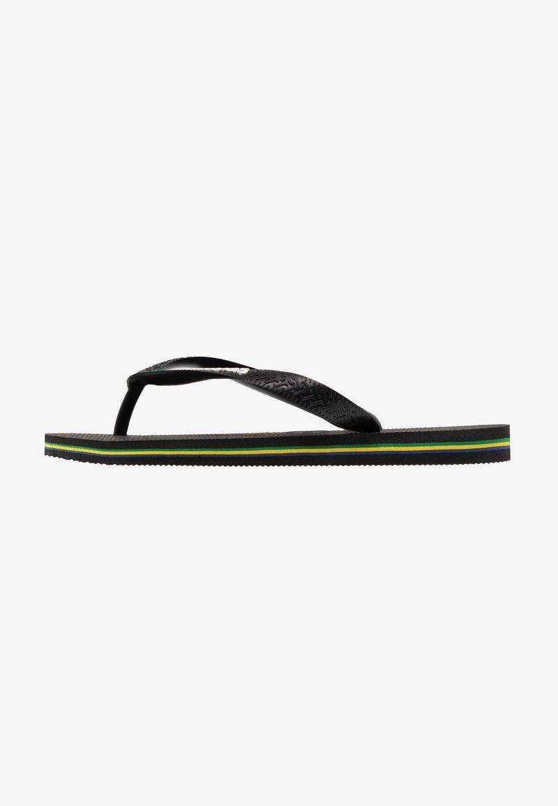 Havaianas - BRASIL LOGO - Japonki kąpielowe - black
