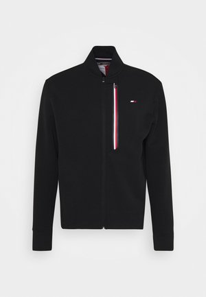 STRIPE BOMBER - Mikina na zip - black
