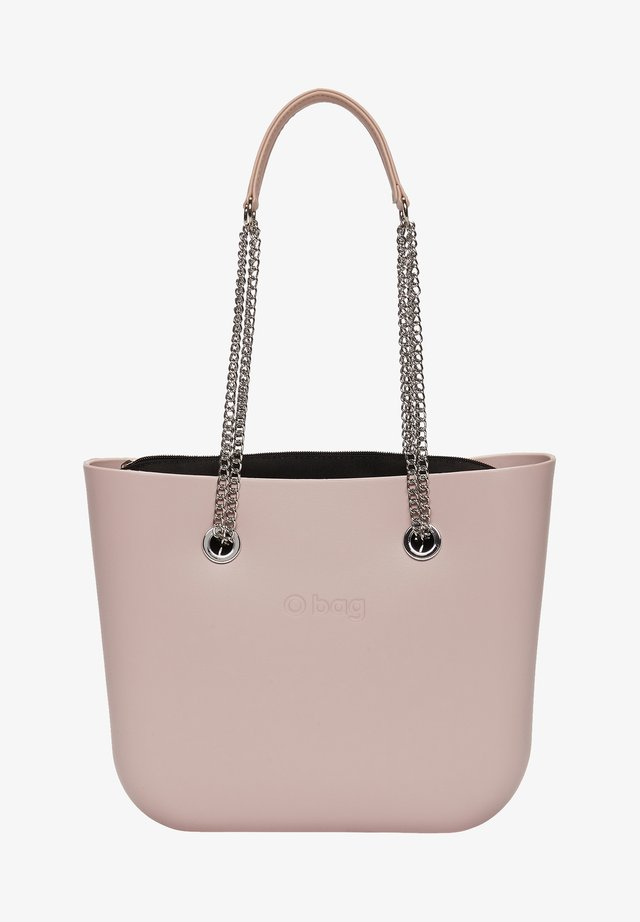 Shopping bag - rosa smoke/metallo