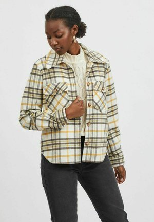 VIBIRA SHORT CHECK SHACKET - Summer jacket - khaki