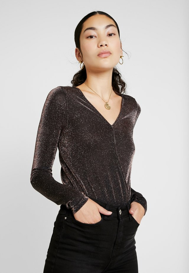 VMDENISE WRAP - Long sleeved top - coffee bean