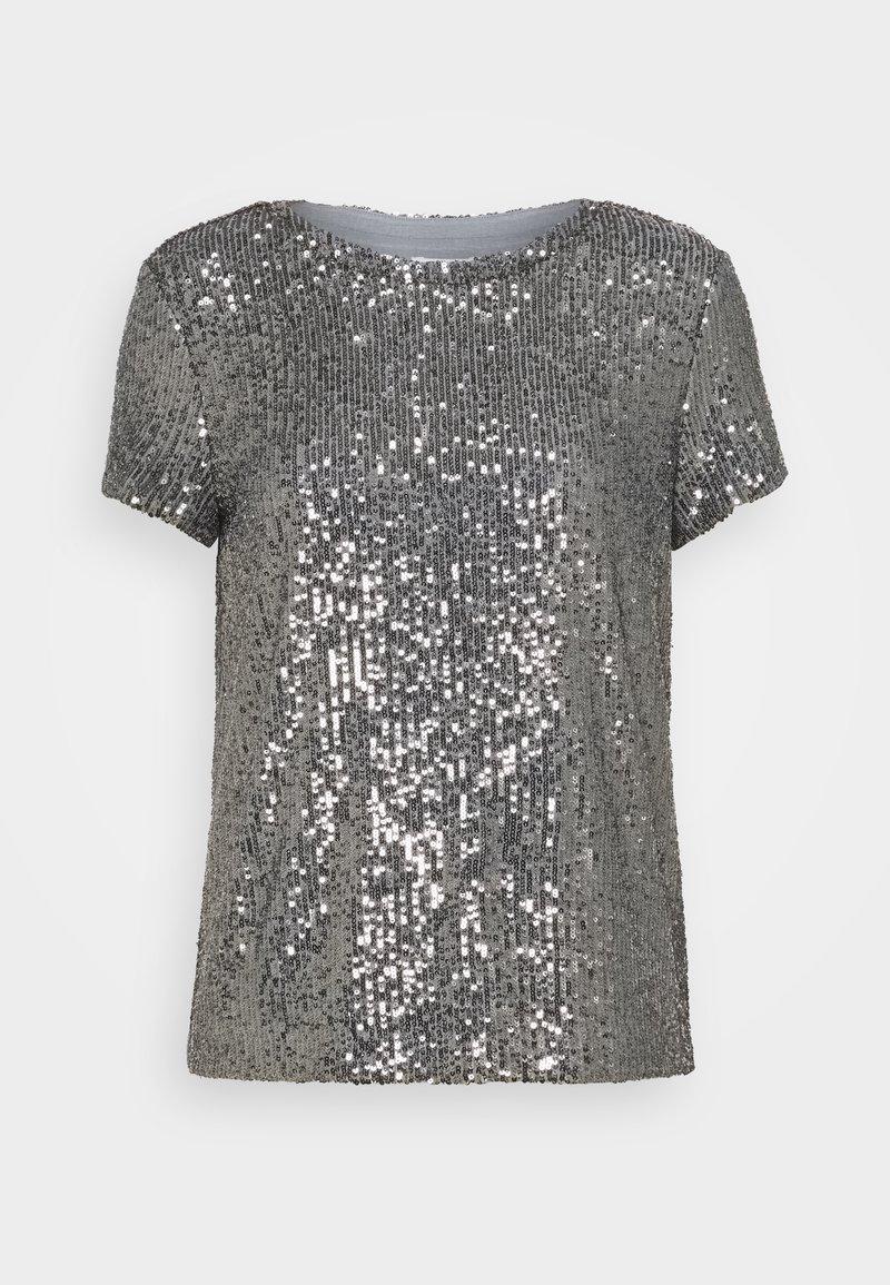 Esprit - SEQUINS TEE - T-shirt print - gunmetal