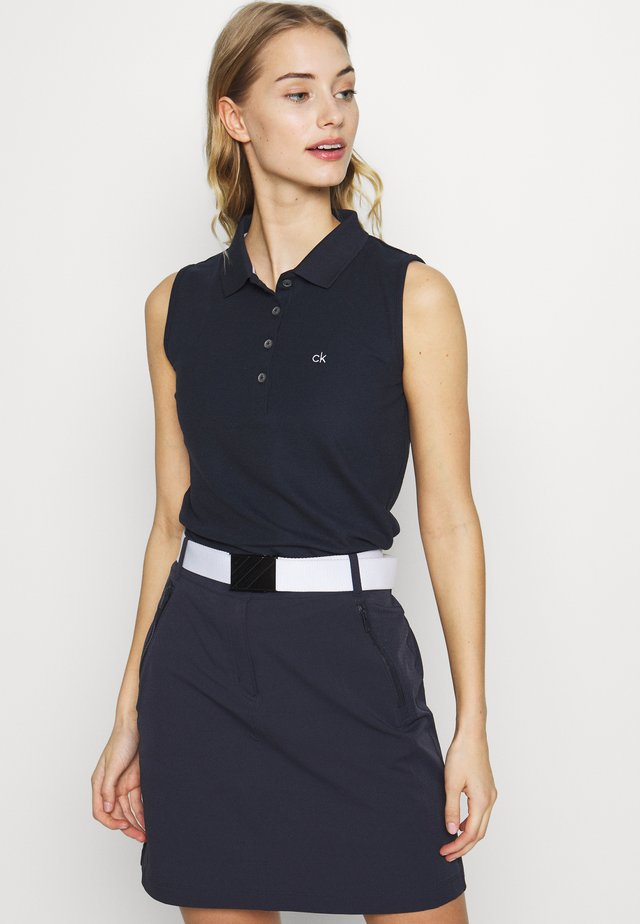 SLEEVELESS PERFORMANCE - Polo shirt - navy