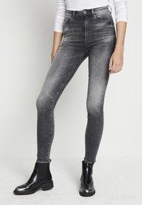 G-Star - KAFEY STUDS ULTRA HIGH SKINNY  - Jeans Skinny Fit - vintage basalt - 0