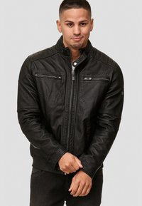 INDICODE JEANS - GERMO - Leather jacket - black - 0