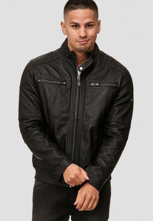 GERMO - Leather jacket - black