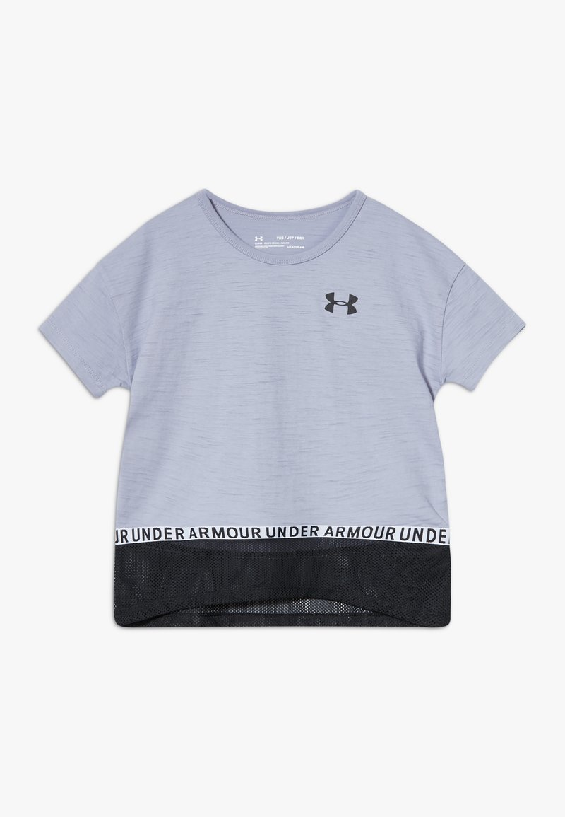 Under Armour - CHARGED TAPED - T-shirt z nadrukiem - purple dusk/black