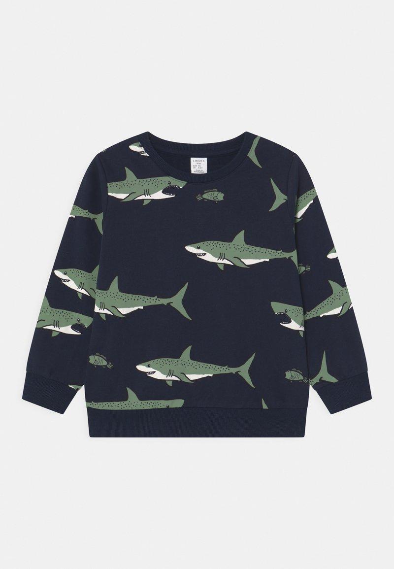 Lindex - MINI SHARK - Sweatshirt - dark navy