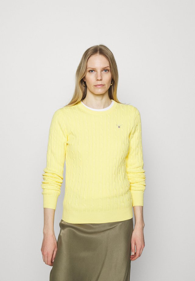 CABLE CREW NECK - Trui - brimstone yellow